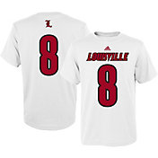 adidas Men's Louisville Cardinals White #8 T-Shirt