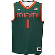 adidas Men's Miami Hurricanes Green #1 Replica Basketball Jersey