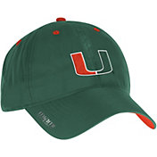 adidas Men's Miami Hurricanes Green Sideline Coaches Adjustable Slouch Hat