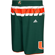 adidas Men's Miami Hurricanes Green Premier Replica Basketball Shorts