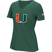 adidas Women's Miami Hurricanes Green Triax Performance T-Shirt