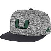 adidas Men's Miami Hurricanes Grey Sideline Player Snapback Adjustable Hat