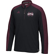 adidas Men's Mississippi State Bulldogs Black/Maroon Sideline Long Sleeve Quarter-Zip Shirt