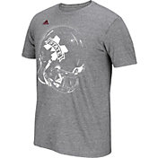 adidas Men's Mississippi State Bulldogs Grey Football Helmet T-Shirt