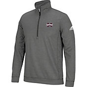 adidas Men's Mississippi State Bulldogs Grey Primary Screen Quarter-Zip Shirt