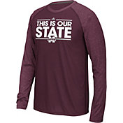 adidas Men's Mississippi State Bulldogs Maroon Dassler Local Long Sleeve Shirt