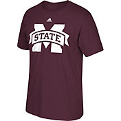 adidas Men's Mississippi State Bulldogs Maroon Huge Logo T-Shirt
