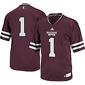 adidas Men's Mississippi State Bulldogs Maroon #1 Replica Football Jersey