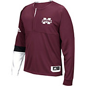 adidas Men's Mississippi State Bulldogs Maroon Shooter Long Sleeve Shirt