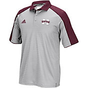 adidas Men's Mississippi State Bulldogs Maroon/Grey Sideline Performance Polo