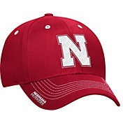 adidas Men's Nebraska Cornhuskers Red Sideline Coaches Structured Flex-Fitted Hat