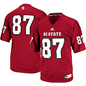 adidas Men's NC State Wolf Pack #87 Red Replica Football Jersey