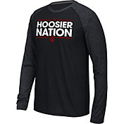 adidas Men's Indiana Hoosiers Dassler Local Black Long Sleeve Shirt