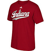 adidas Men's Indiana Hoosiers Crimson Chromed Logo T-Shirt