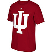 adidas Men's Indiana Hoosiers Crimson Huge Logo T-Shirt