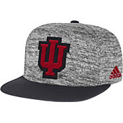adidas Men's Indiana Hoosiers Grey Sideline Player Snapback Adjustable Hat