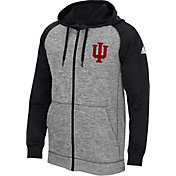 adidas Men's Indiana University Hoosiers Grey/Black Full-Zip Tech Fleece Hoodie