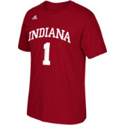 adidas Men's Indiana Hoosiers Crimson #1 Player T-Shirt