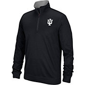 adidas Men's Indiana Hoosiers Black Long Sleeve Prime Quarter-Zip Shirt