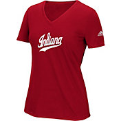 adidas Women's Indiana Hoosiers Crimson Triax Performance T-Shirt