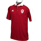 adidas Men's Indiana Hoosiers Crimson/White  Sideline Performance Polo