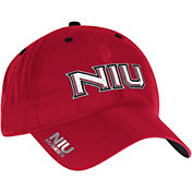 adidas Men's Northern Illinois Huskies Red Sideline Coaches Adjustable Slouch Hat