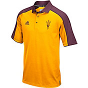 adidas Men's Arizona State Sun Devils Gold/Maroon Sideline Performance Polo