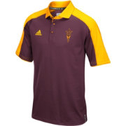 adidas Men's Arizona State Sun Devils Maroon/Gold Sideline Performance Polo