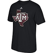 adidas Men's Texas A&M Aggies Chromed Logo Black T-Shirt