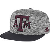 adidas Men's Texas AM Aggies Grey Sideline Player Snapback Adjustable Hat