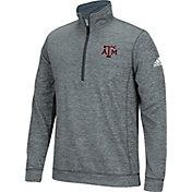 adidas Men's Texas A&M Aggies Grey Primary Screen Quarter-Zip Shirt