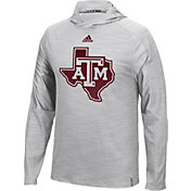 adidas Men's Texas A&M Aggies Grey Sideline Training Performance Hoodie