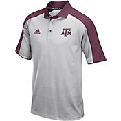 adidas Men's Texas A&M Aggies Grey/Maroon  Sideline Performance Polo