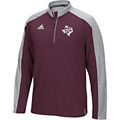 adidas Men's Texas A&M Aggies Maroon/Grey Sideline Long Sleeve Quarter-Zip Shirt