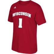 adidas Men's Wisconsin Badgers Red #10 Player T-Shirt