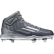 adidas Men's PowerAlley 3 Mid Metal Baseball Cleats