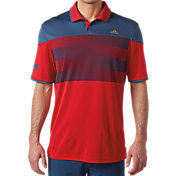 adidas Men's USA American Stripe Golf Polo