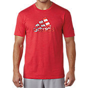 adidas Men's USA Stripe Adi Logo Golf T-Shirt