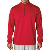 adidas Men's climawarm Textured Dot Half-Zip Golf Pullover