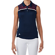 adidas Women's Climacool USA Star Lace Sleeveless Golf Polo