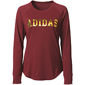 adidas Women's Metallic Graphic Long Sleeve Shirt