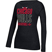 adidas Women's Chicago Bulls Black Long Sleeve Shirt