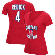 adidas Women's Los Angeles Clippers J.J. Redick #4 Red Tri-Blend V-Neck T-Shirt