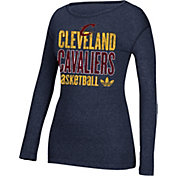 adidas Women's Cleveland Cavaliers Navy Long Sleeve Shirt