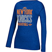 adidas Women's New York Knicks Royal Long Sleeve Shirt