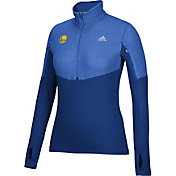 adidas Women's Golden State Warriors Royal Half-Zip Pullover