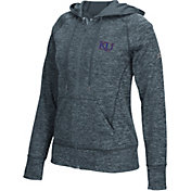 adidas Women's Kansas Jayhawks Grey Tech Full Zip Hooded Fleece