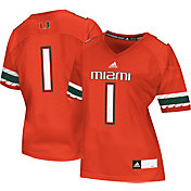 adidas Women's Miami Hurricanes #1 Orange Replica Football Jersey