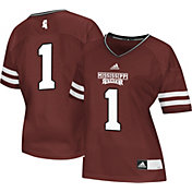 adidas Women's Mississippi State Bulldogs #1 Maroon Replica Football Jersey