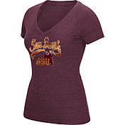 adidas Women's Arizona State Sun Devils Maroon Scribble V-Neck T-Shirt